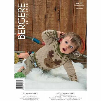 Bergere de France Children's REINDEER SWEATER PATTERN - 42797