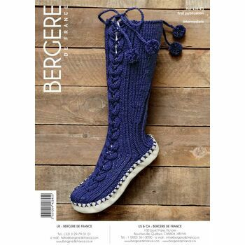 Bergere de France SLIPPER SOCKS WITH LACED CABLE PATTERN -42845