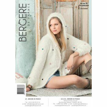 Bergere de France women's LONG HOODED JACKET PATTERN -42878