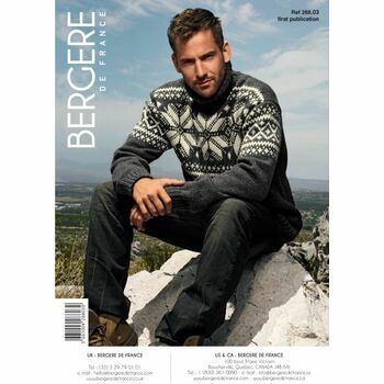 Bergere de France men's JACQUARD SWEATER PATTERN - 28803