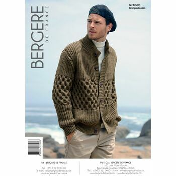 Bergere de France men's Cardigan PATTERN - 17592