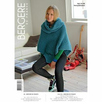 Bergere de France Short Poncho & Snood PATTERN - 17692