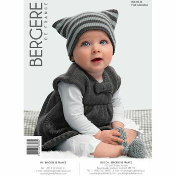 Bergere de France Children's DRESS, HAT AND BOOTEES PATTERN - 33558