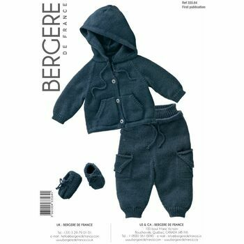 Bergere de France Children's JOGGING SUIT AND BOOTEES PATTERN - 33564