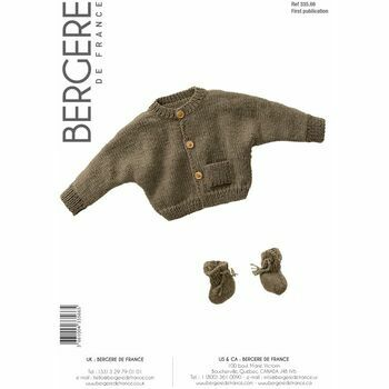 Bergere de France Children's Cardigan And Bootees Pattern - 33566