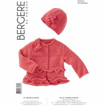 Bergere de France - Girl's Cardigan and Hat Pattern - 33575