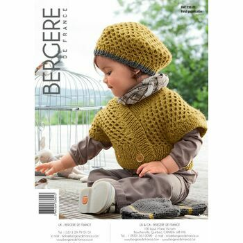 Bergere de France Children's Gilet Beret and Mittens Pattern - 33601
