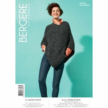 Bergere de France Short Poncho Pattern -33623
