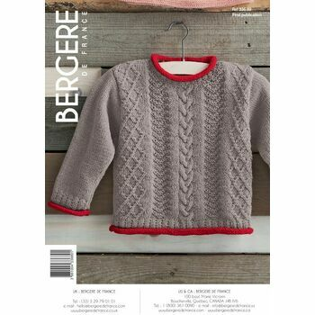 Bergere de France Children's Knitted Sweater Pattern -33689