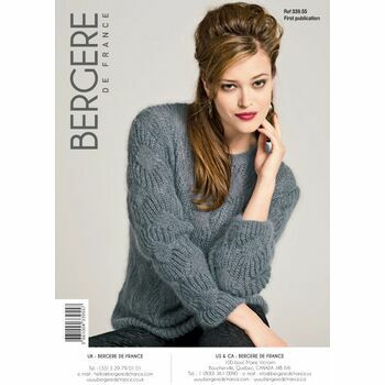 Bergere de France Round Neck Sweater Pattern - 33955