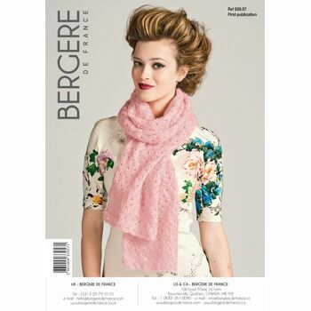 Bergere de France Crochet Knitted Scarf Pattern - 33957