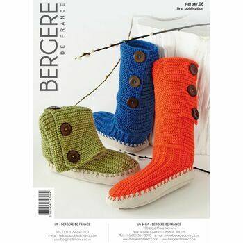 Bergere de France Slipper Boots Pattern - 34706