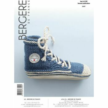 Bergere de France Adult's Basketball Shoe Pattern - 67550