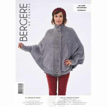 Bergere de France Buttoned Cape Pattern - 72580