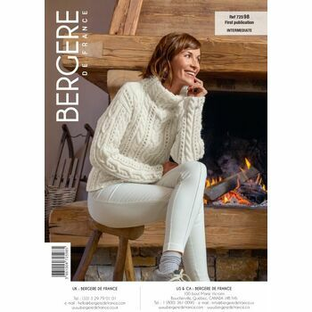 Bergere de France LACY CABLE SWEATER PATTERN - 72598