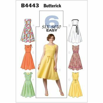 Butterick Pattern B4443 Misses' Petite Flared Dresses