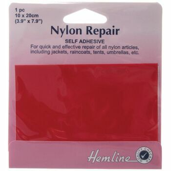 Hemline Self Adhesive Nylon Repair Patch (Red) - 10 x 20cm