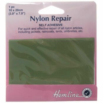 Hemline Self Adhesive Nylon Repair Patch (Green) - 10 x 20cm