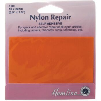 Hemline Self Adhesive Nylon Repair Patch (Orange) - 10 x 20cm