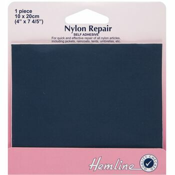 Hemline Self Adhesive Nylon Repair Patch (Navy) - 10 x 20cm