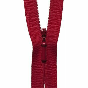 YKK Concealed Zip - Red (41cm)