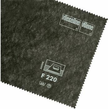 Vlieseline Iron-On Interlining Standard Medium - 90cm (Dark Grey) - Per 10cm