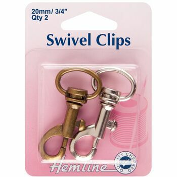 Hemline Swivel Clips - Bronze & Metal (20mm)