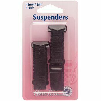 Hemline Suspenders - Black (15 x 170mm)