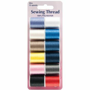 Hemline Sewing Thread - 12 Assorted Colours
