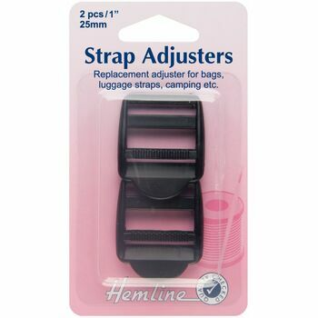 Hemline Strap Adjustable Buckle -Black (25mm)