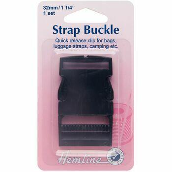 Hemline Strap Buckle - Black (32mm)