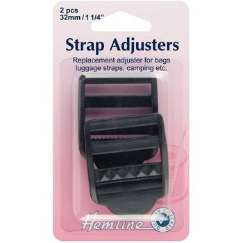 Hemline Strap Adjustable Buckle - Black (32mm)
