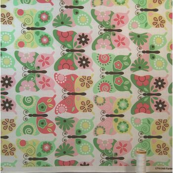 Fantasy Wings Butterflies (100% Cotton) Per Metre