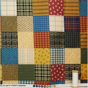 Springs Creative Patchwork Quilt Fabric - 100% Cotton