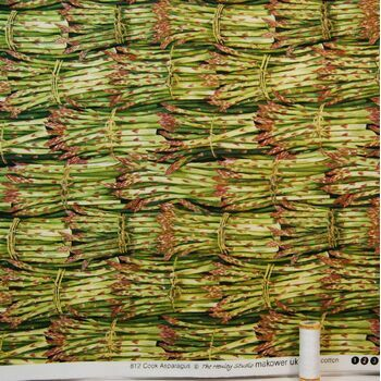 The Henley Studio Cook Asparagus Print - 100% Cotton Fabric