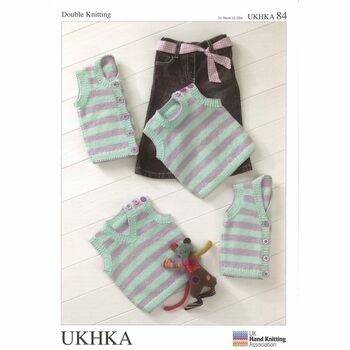 UKHKA Pattern Stripy Waistcoats and Slipovers - DK n.84