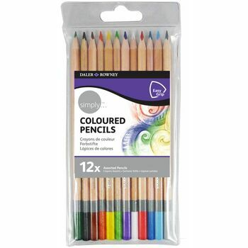 Daler Rowney Simply 12 Coloured Pencils
