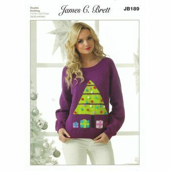 Brett Pattern Christmas Tree Jumper Pattern DK JB189