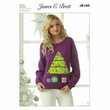 Brett Pattern Christmas Tree Jumper Pattern DK JB189