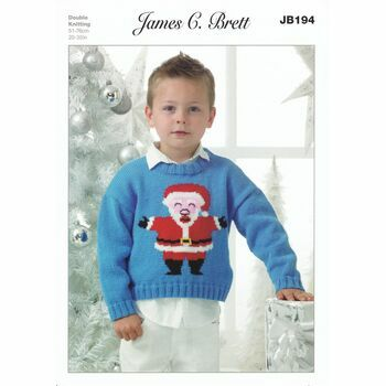 Brett Pattern Father Christmas Jumper Pattern DK JB194