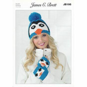 Brett Pattern Winter Hat And Mittens Pattern DK JB195