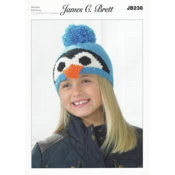 Brett Pattern Winter Penguin Hat Pattern DK JB238