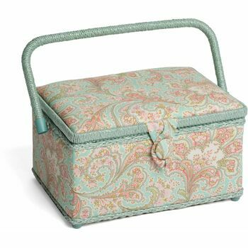 HobbyGift Classic Sewing Box (Medium) - Paisley