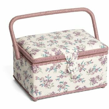 HobbyGift Classic Sewing Box (Medium) - Chambray Rose Cream