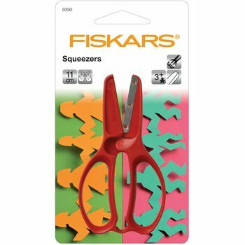 Fiskars Pre-School Squeezers Kids Scissors (11cm)