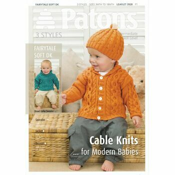 Patons Cable Knits for Modern Babies Knitting Pattern DK