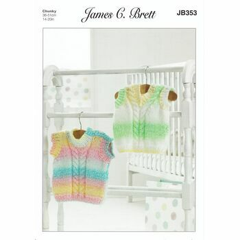 James C Brett Pattern Chunky JB353