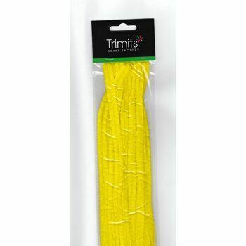 Trimits Chenilles (30cm x 12mm) - Yellow - 15 Pieces