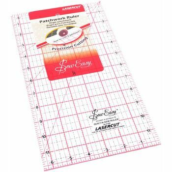 Sew Easy Patchwork Ruler (12 x 6.5in)