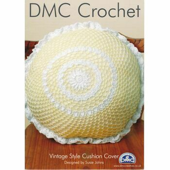 DMC Crochet Pattern - Vintage Style Cushion Cover